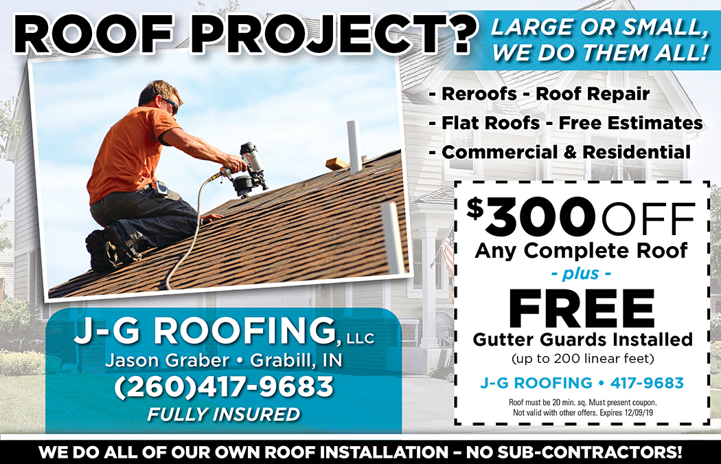 J G Roofing Hp Ms 11 19 Fort Wayne Moneysaver Magazine