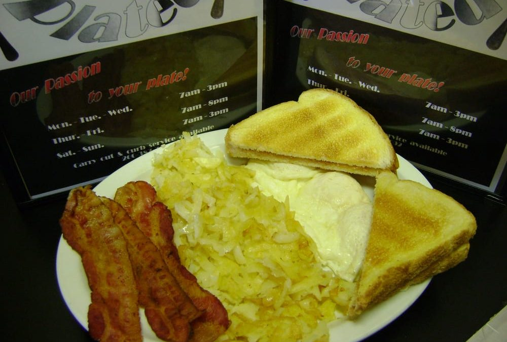 It's breakfast all day at Chrome Plated Diner!